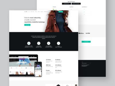 GLAMI — partner sign in page (desktop) webdesign web site webpage desktop landing page landing clean glami ux ui interface