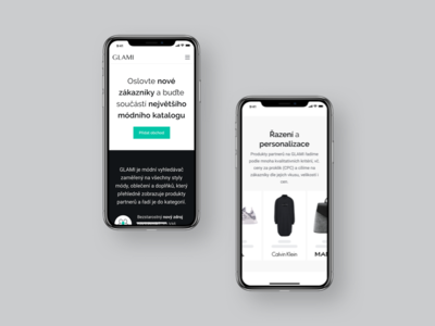 GLAMI — partner sign in page (mobile) iphone x mobile webdesign web site webpage landing page landing clean glami ux ui interface