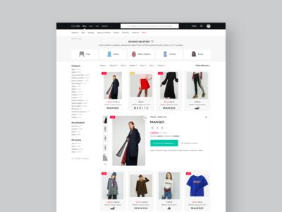 GLAMI — new lightbox / product detail (desktop) webpage web page web site detail product detail lightbox webdesign ux ui interface desktop clean