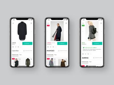 GLAMI — new lightbox / product detail (mobile) iphone x mobile design webdesign ux ui product detail lightbox interface detail mobile clean