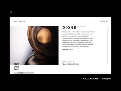 MIKOLASKOVA! — designer (01) gallery minimalist clean ui portfolio designer design webdesign website web minimal layout minimal