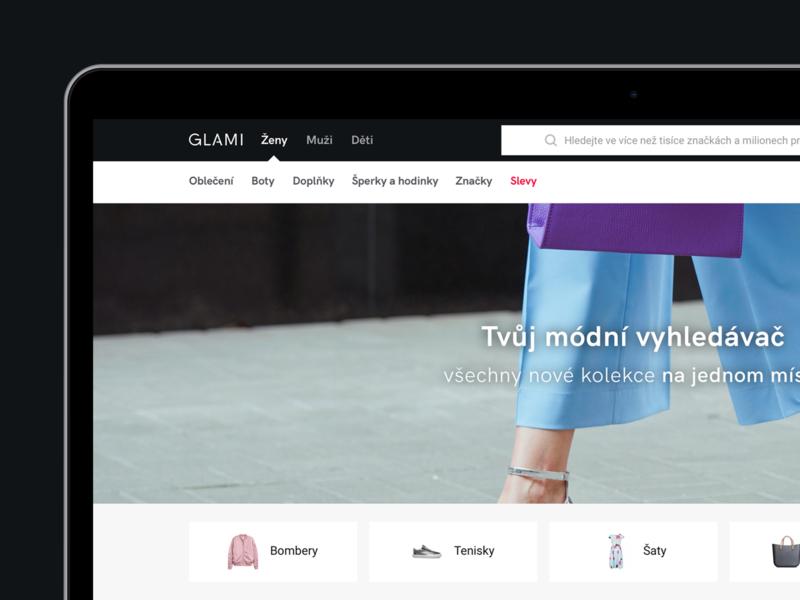GLAMI - Homepage ecommerce logo design brand homepage design homepage landing page landing user interface user experience fashion typography branding web logo webdesign ux minimalist ui clean minimal