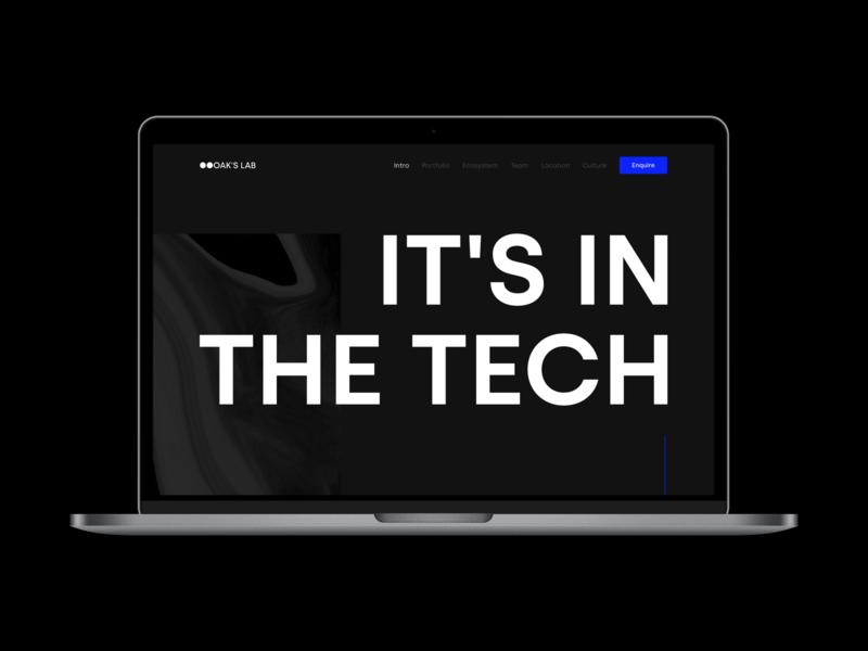 OAK'S LAB Website v2 dark ui dark typography branding webdesign graphic design ui ux agency studio website web