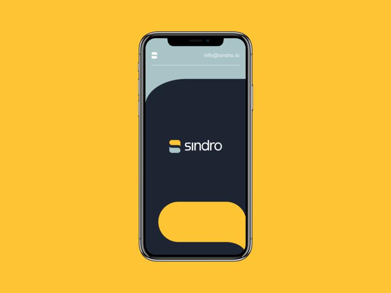 Sindro - Splash Page page site landing page landing branding logo ux ui minimal pattern splash page splashpage website web webdesign