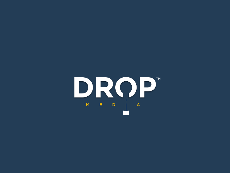 Drop™ | Simple & Clever Logo Design simple logo indonesia designer hidden message clever logo logo design media drop typography indonesia logo