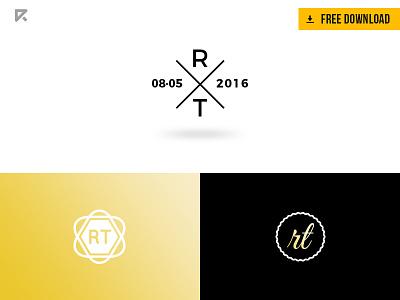 FREE - Logos for Wedding & Business logo design ladyboss feminine download free logomark circle wedding minimalist simple logotype monogram
