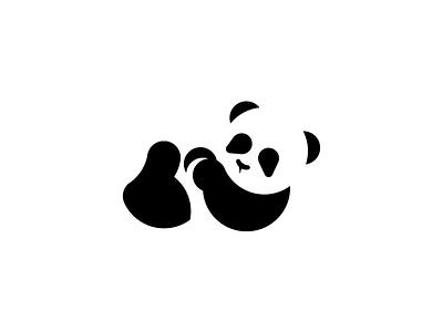 Daily Logo 3 - Panda simple dailylogochallenge daily logos golden ratio identity logo animal wwf panda conservation panda brand mark