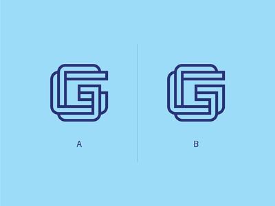 Daily Logo 4 - G Letter line style dailylogochallenge daily logo identity brand logo g monochrome mark typo typography letter