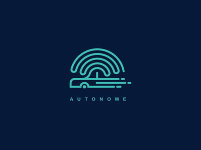 Daily Logo 5 - Autonome Driveless Car Logo daily logo dailylogochallenge icon monogram modern simple mark brand driveless network wifi car