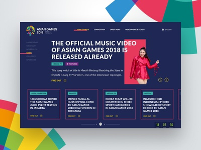 Latest News Page - Asian Games Landing Page olympic resources website ux ui home pages news articles blog latest news landing pages dailyui