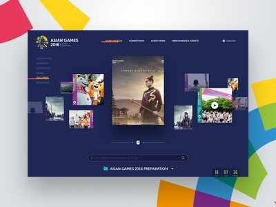 Gallery Page - Asian Games Landing Page resources user interface asian games dailyui ux ui galleries website documentation video photo gallery