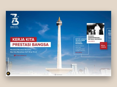73th Independence Day of Indonesia dailyui desktop jakarta monas independence day indonesia homepage home landing website landing page