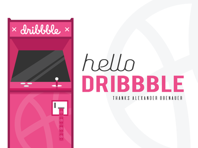 Dribbble Debut dribbble debut first arcade machine