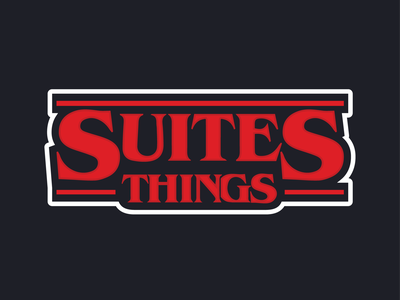 Suites Things unviersity north georgia dark blue red suites halloween sticker