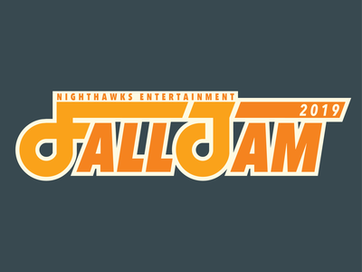 Fall Jam Tee college apparel ung typography type orange yellow music jam fall tee tshirt