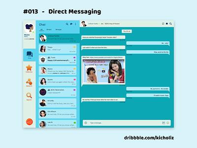 DailyUI 013 - Direct Messaging (wuwus) kpop messenger desktop app chat direct messaging web design desktop dailyui 013 dailyui