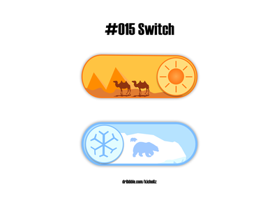 DailyUI 015 - On/Off Switch (Hot/Cold Switch) creative design temperature toggle switch dailyui 015 dailyui