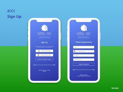 DailyUI #001 - Sign Up sumerian message messenger messaging app logo mobile app dailyui