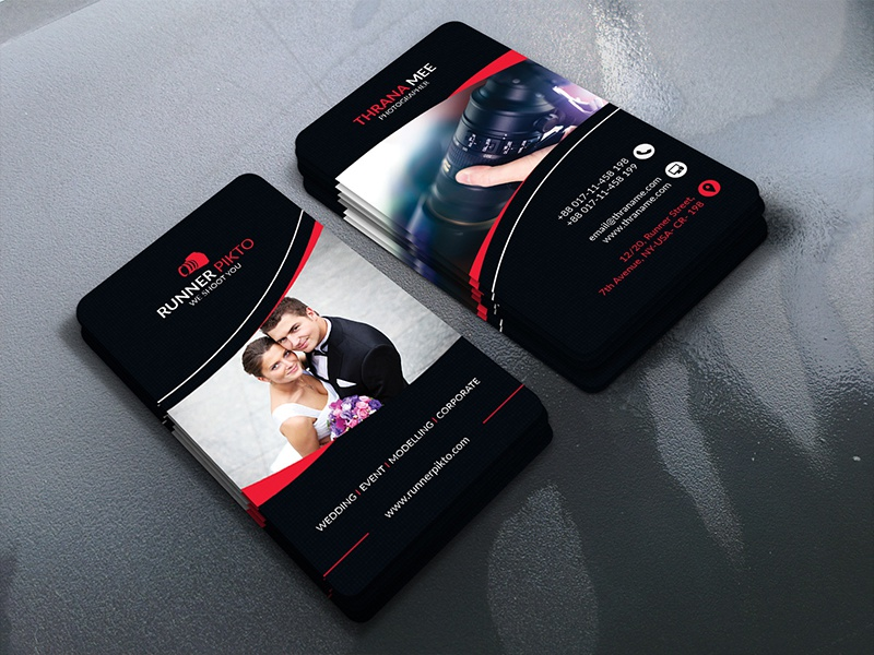 Photography Business Card graphic design photography business card business card graphic template camera photographer studio photography
