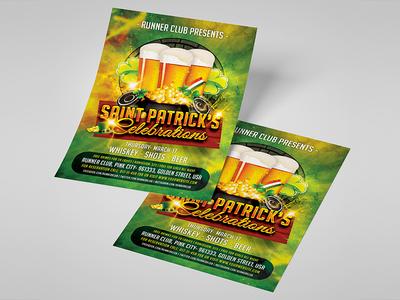 Saint Patrick's Celebration Flyer Template