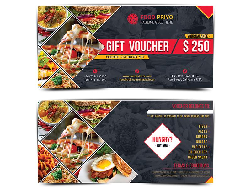 restaurant gift voucher template by runner design dribbble