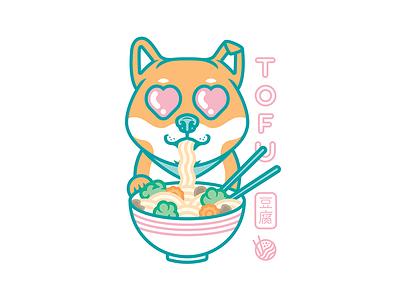 TOFU animeart illustration design anime love heart pho ramen sheeba tofu
