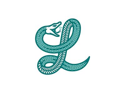 Locality Store merch illustration line badge logo brand branding scales vector design monogram design monogram letter mark snakes snake logo l monogram snake