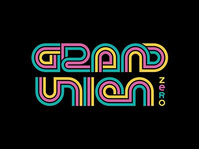 Grand Union Zero   Non Alcoholic Beer illustration line bear beer logo identity vector lines type typography word mark branding brand logo rainbow tram tracks train tracks non alcoholic beer