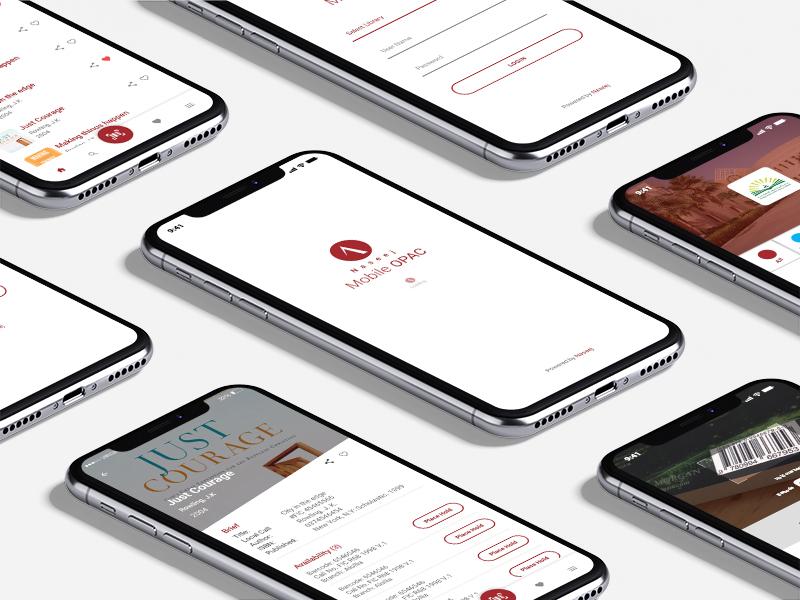 Online public access catalog Mobile app elibrary digital library