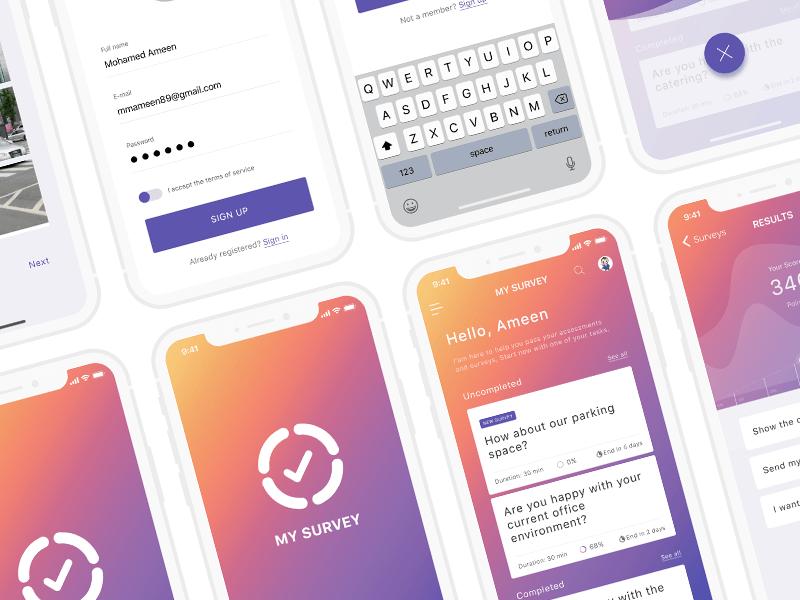 My-survey app design 02 design app survey