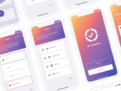My-survey app design 03