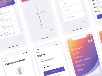 My-survey app design 04