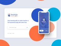 Leargo coming soon page design