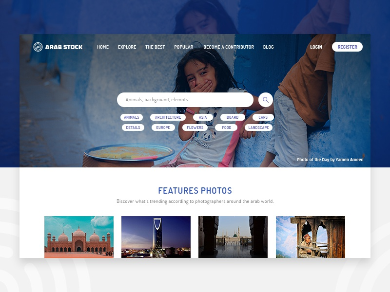 Arab Stock landing page collections photographer photographers photos arab
