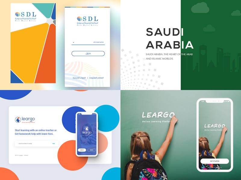 #Top4Shots on @Dribbble from 2018 illustration platform online mobile learning library homework leargo saudi digital arab app design