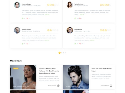 Forum Cinemas Full Movie Description Page web design web cinema website ux ui