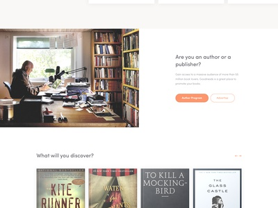 Daily UI #4 - Goodreads Landing page minimalistic daily ui comments simple landing page goodreads redesign