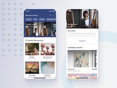 Buy & Sell Original Art accessibility typogaphy visual design mobile ui application ux ui ecommerce app ios mobile design appconcept uidesign artwork