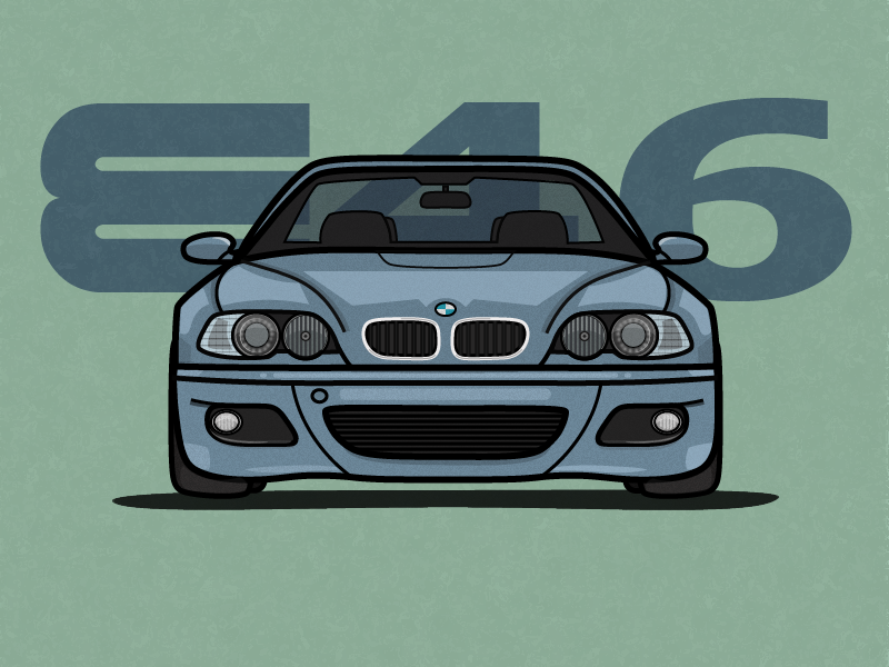BMW M3 E46 rebound speed illustration sport auto car bimmer m3 e46 bmw