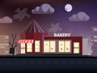 Halloween night at the Bakery