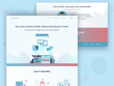 ZeFinanceBar Landing Page