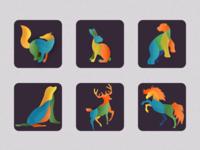 Animals icons 3x