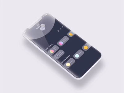 Experience for Smart Home App adobexd xddailychallenge home app scenes minimal recorder motion iteration user experience color bars settings smart bulb smarthome ios explore application mobile