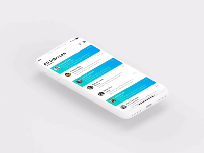 Email Client | Mobile App | iOS read archive delete edit swipe emails emailcliect email app ios animation xddailychallenge adobexd motion application mobile