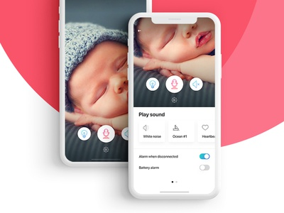 Babyphone child sound settings apple ios interface ux camera baby babyphone ui
