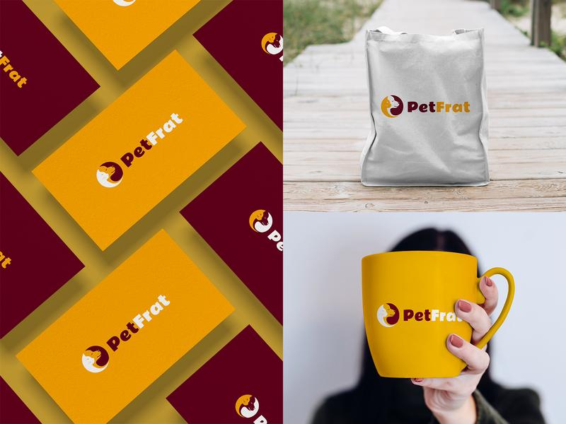 Pet Shop Logo Design   Petfood Online website logo cat dog illustration branding company logo design new logo websitelogo petfood petshop pet logo