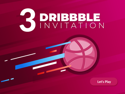 3 Dribbble invites giveway