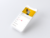 Profile Screen Design | Mobile Application