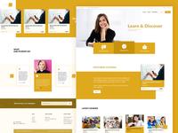 Learning website Homepage design