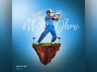 M S Dhoni - Indian Cricketer Photo Manipulation